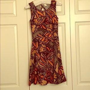 H&M fit and flare pattern dress